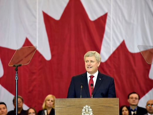 Harper and the flag.jpg